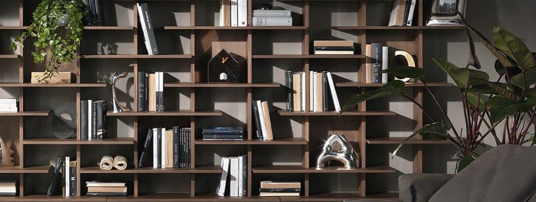 Книжный шкаф в интерьере: фото