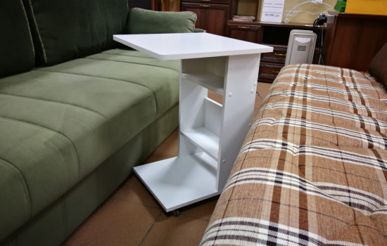 Столик подкатной (белый)