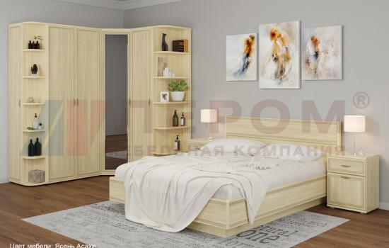 Модульная спальня МДФ с вместительным угловым шкафом