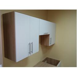 Кухня ЛДСП Белый/Дуб Сонома