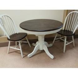 Круглый обеденный стол (массив гевеи)