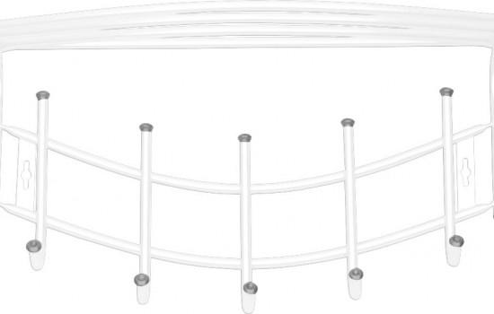 Вешалка настенная металлическая Ника-Премиум (арт. ВНП4)