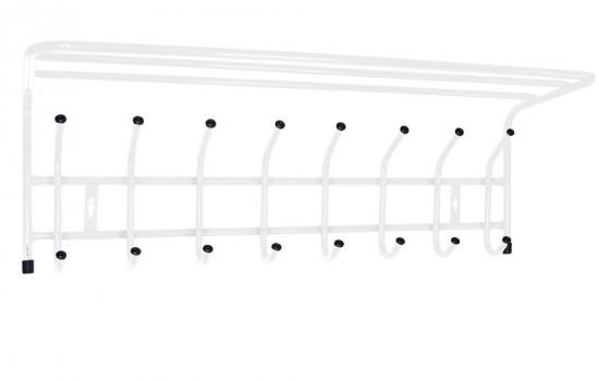Вешалка с полкой настенная металлическая (арт. ВП8)